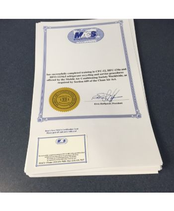 609 certification replacement paper